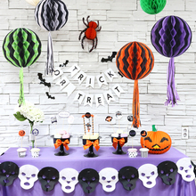Halloween Decor Accessories flowers paper ruscifolia mall store school ball dress ornaments activities(China)