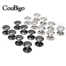 100set/pack 10mm Round Double Cap Rivet Stud Spike Collision Nail for Leathercraft Shoes Bag Belt Garment Accseeories #GZ015-10