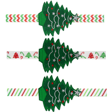Retail 1pc Christmas Tree Headbands Fashion Green Color kids Headwear Elastic Hair Bands Accessories