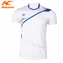 Kason Men's Badminton Shirts Fitness Summer Sport Running T-Shirt Tee Table Breathable Tennis Tops FAYH001 Quick Dry Comfortable(China)
