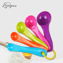 LMETJMA Sugar Cooking Plastic Measuring Spoons DIY Baking Measures Spoons Cup Kitchen Measuring Spoons Set Cake Tools PYI112801