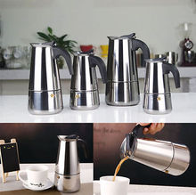 High Quality Only $8.85 100ml 2 Cup Percolator Stove Top Coffee Maker Moka Espresso Latte Stainless Steel Pot Color Silver