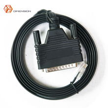 6FT length network routers cable CAB-CONAUX RS232 DB25 Male to RJ45 Male console cable for cisco router