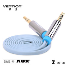 Vention Flat 3.5mm jack AUX Cable 2M Gold Plated Stereo Audio Cable For car Headphone Replacement /PC Speaker wire