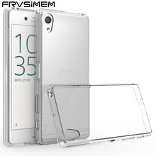 FRVSIMEM Fashion Clear Cover For Sony Xperia Z5 Compact M2 M4 Aqua M5 X XA XC XZ XA XA1 Ultra XZ Premium Transparent Soft Case