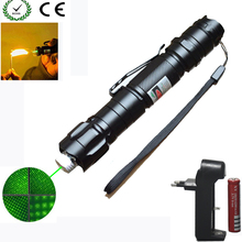 High Power green Laser Pointer 1000m 5mW Green Hang-type Outdoor Long Distance Laser Sight +18650 Battery+Charger(China)