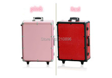 Professional Makeup Artist Train Case with Lights Lighted Cosmetic Case 6 colours