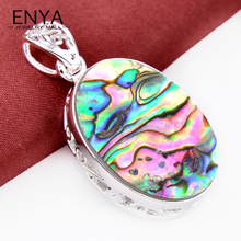 ENYA Xmas Gift Unique Abalone Shell Gems Pendant For Women & Men 100%Hand Made Jewelry Bijoux P0520