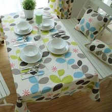 100% cotton tablecloth colorful leaves printed Europe rectangular table cloth home party wedding product high quality