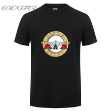 New Fashion Band Guns And Roses T shirt Rock Band GNR O Neck Short Sleeve Guns N Roses T-shirts Men Clothing Free Shipping(China)