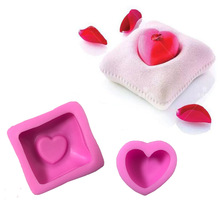 Heart Shape Pillow Silicone Soap Molds Fimo Clay Candle Moulds Fondant Cake Decorating Chocolate Mousse Cake Baking MK2355