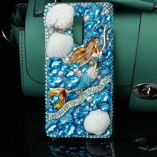 Mermaid Blue Ocean Phone Shell for Xiaomi Redmi Note 4X Bling Fox Colorful Rhinestone China Red Pink Gold Color PC Case 5.5 inch
