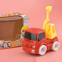 Wholesale Electric Engineering Truck Car Toys For Children Puzzle Toys Best Gift For Kids(China)