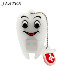 JASTER usb flash drive pendrive dentist teeth pendrive 32GB 16GB 8GB 4GB 2GB cartoon tooth models usb 2.0 64gb Pen drive GIFT(China)