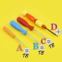 Cross screwdriver/Torx T8 Screwdriver Security Hex Shell Screwdriver Repair Tool Hand Tool for PS4 3 Controller Tamperproof Hole