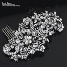 Wedding Comb Crystal Flower Handmade Hair Comb Wedding Jewelry Hairpiece Bridal Vintage Hair Accessories Women Headpieces