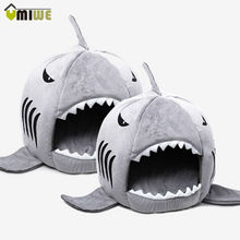 Umiwe Shark Warm Indoor Kitten Dog Cat Pet Sleeping Sofa Bed Puppy Pet House With Mat S/M Size For Dog Cat cama de para cachorro(China)