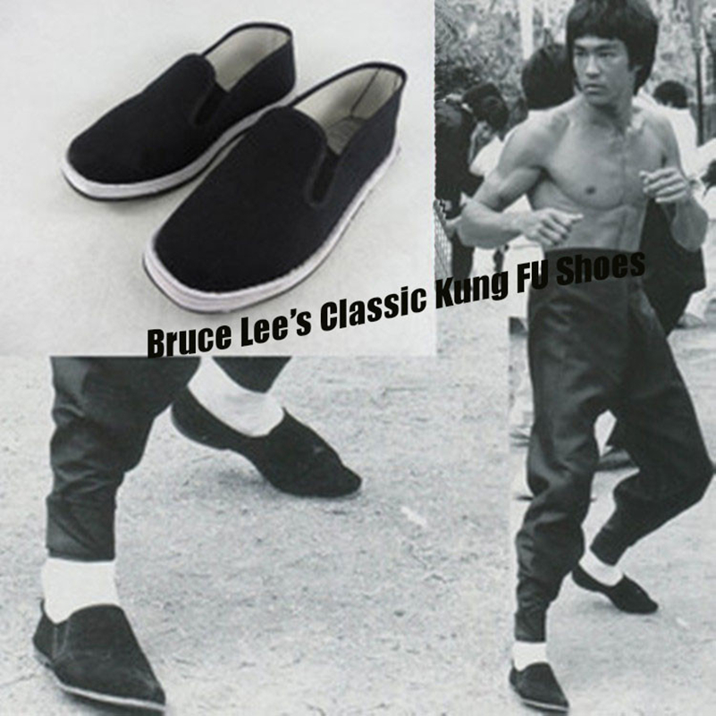 Men Wing Chun Kung Fu Shoes Vintage Chinese Tai Chi Cloth Shoes Martial Arts Footwear home garden walking flats Summer style