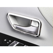 4pcs SUS304 Stainless Steel Inner Interior Door Handle Cover Trim Accessories For Toyota Prius V ZVW40(China)