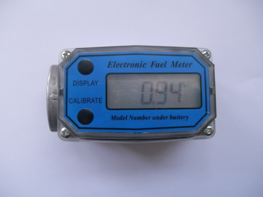 Digital Turbine Flow Meter Flowmeter Gauge Caudalimetro Electronic Flow Indicator Sensor Counter Petrol Fuel Plomeria Water DN25<br>