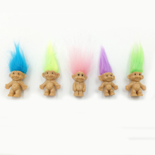 5pcs/lot 10 Colors Hair  Family Members Daddy Mummy Baby Boys Girls Dam Anime  Kids Toys for Children Birthday Gift