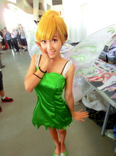 2016 Tinker Bell Fairy Cosplay Costume Customize Tinkerbell Cosplay Dress Only Dress