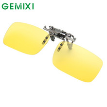 GEMIXI 2017 New Fashion  Detachable Night Vision Lens Driving Metal Polarized Clip On Glasses Classic  Sunglasses  MAY23