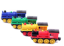 Magnetic electric train locomotive Four-wheel drive compatible wooden train track set battery operated with sound kids toys 1pcs