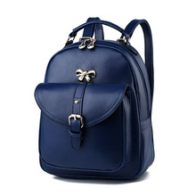 Women Brand Backpack 2017 Fashion Fresh Patchwork PU Shoulder Bag Top Quality 12 Colors Backpack Tote Crossbody Bolsa Feminina