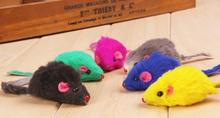 New Lovely Funny Bright Coloured Pet Dog Cat Toys False Mouse Free Shipping Wholesale E5M1
