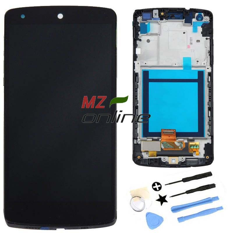 Black OEM For LG Google Nexus 5 D820 D821 LCD Display + Touch Screen with Digitizer + Bezel Frame + Tools Free ShIpping<br><br>Aliexpress