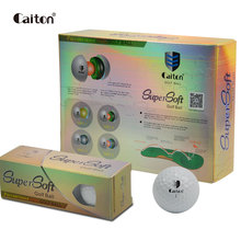 Caiton 12pcs/Pack Two layers Supersoft Golf Balls Outdoor sports golf tournament training balls(China)