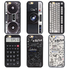 Vintage 3D Funny Calculator Videotape Camera Phone Coque Case For iphone 7 Plus 6 6s Plus Back Cover Case For iphone 7 6 6s Capa