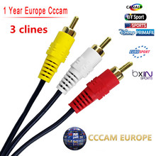 Av-cabel or Satellite Receiver 1 Year CCcams CLINES Control Panel BT Sport Mediaset Clines Movistar WIFI FULL HD DVB-S2(China)