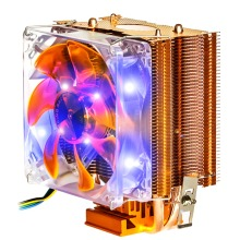 NEW Dual Heat Pipe 3pin Pwm Fan Cpu Cooler Heatsink For Intel for AMD Y002 In stock!(China)