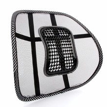 New Car Seat Office Chair Massage Back Lumbar Support Mesh Ventilate Cushion Pad Black High Big Size(China)