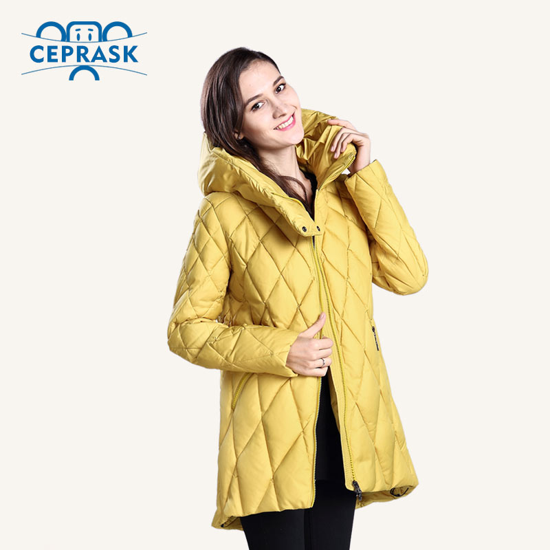 CEPRASK 2016 New Winter Jacket Women Plus Size  Fashionable Womens Winter Coat Hooded High Quality Warm Down Jacket ParkaОдежда и ак�е��уары<br><br><br>Aliexpress