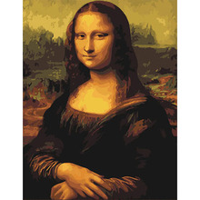 No Frame Mona Lisa DIY Painting By Numbers Drawing Painting By Numbers Paint On Canvas Unique For Home Wall Art Picture(China)