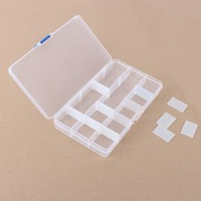 15/10 Slots Adjustable Plastic Jewelry Storage Box Case Craft Organizer Beads Hot Sale