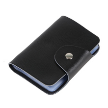 Hot Selling 100% Genuine Cow Leather card holder Korea Fashion Women&Men's Name Bank  Credit Card Holder Wallet,YC-BH002