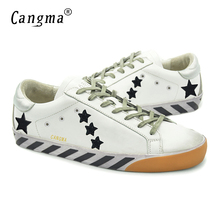 CANGMA Brand Design Women Shoes Genuine Leather Superstar Female Casual White Breathable Shoes Fashion Merk Vrouw Schoenen 2017