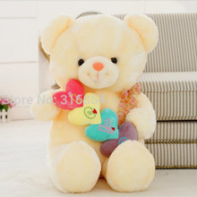 Colorful 50CM Bear Plush Toy Teddy Bear Soft Stuffed Toy Teddy Bear Soft Doll Factory Supply