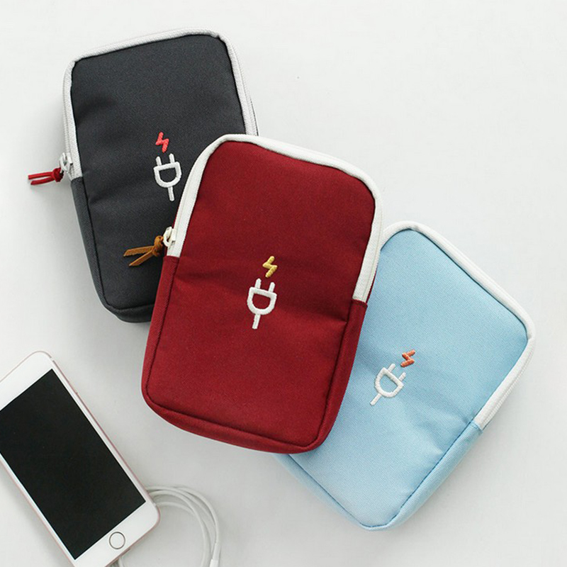 Organizer Travel-Bag Mobile-Phone Electronic Storage-Package Portable Data-Line Charging-Treasure title=