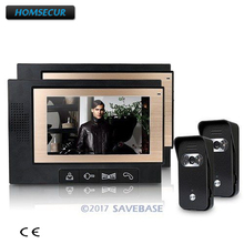 HOMSECUR Luxury Video Door Phone Intercom System With 700TVL Camera For Villa House 2V2(China)