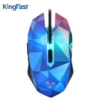 KINGFAST Wired Mouse Dazzle Colour Diamond Edition Ergonomic Gaming Mouse 7-Color 2400DPI USB Mice for Notebook Laptop PC Tablet(China)