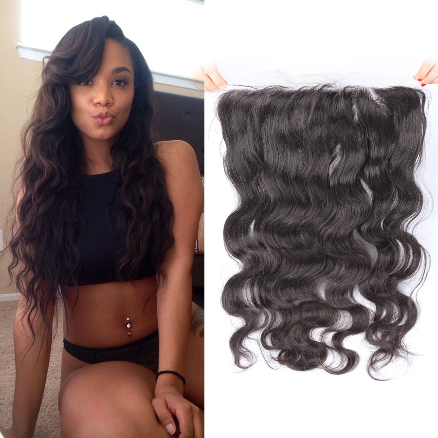 CARA Brazilian Virgin Hair Body Wave 13*4 Lace Frontal Closures With Baby Hair Pre Plucked Natural Hairline 13*4 Lace frontal<br><br>Aliexpress