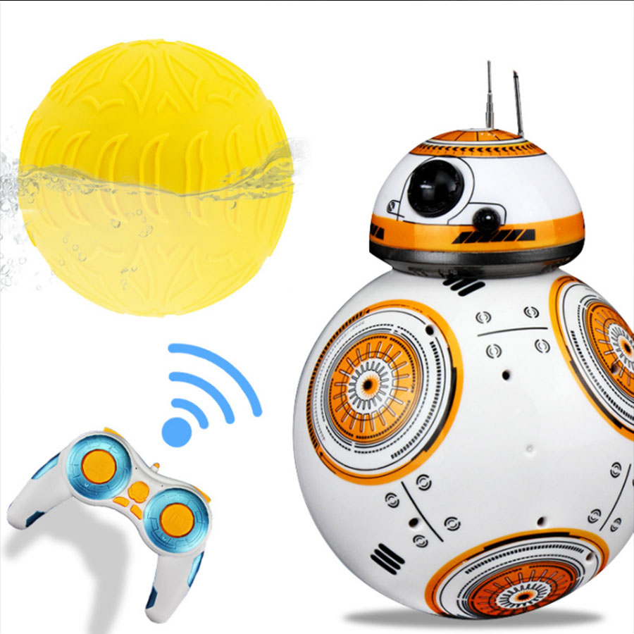 Star Wars 17cm Star Wars Upgrade RC BB-8 Robot remote control BB8 robot intelligent with sound RC Ball kid gift boy toys<br>