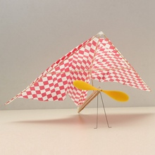 DIY Rubber Powered Parasol Glider A012 Aircraft Plane Assembly Model Flying Educational Toys For Children Kids(China)