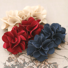 High Quality Solid Color Camellia Flowers Spring Hair Clips For Girls Double Flowers Hair Barrettes Hair Accessories For Women