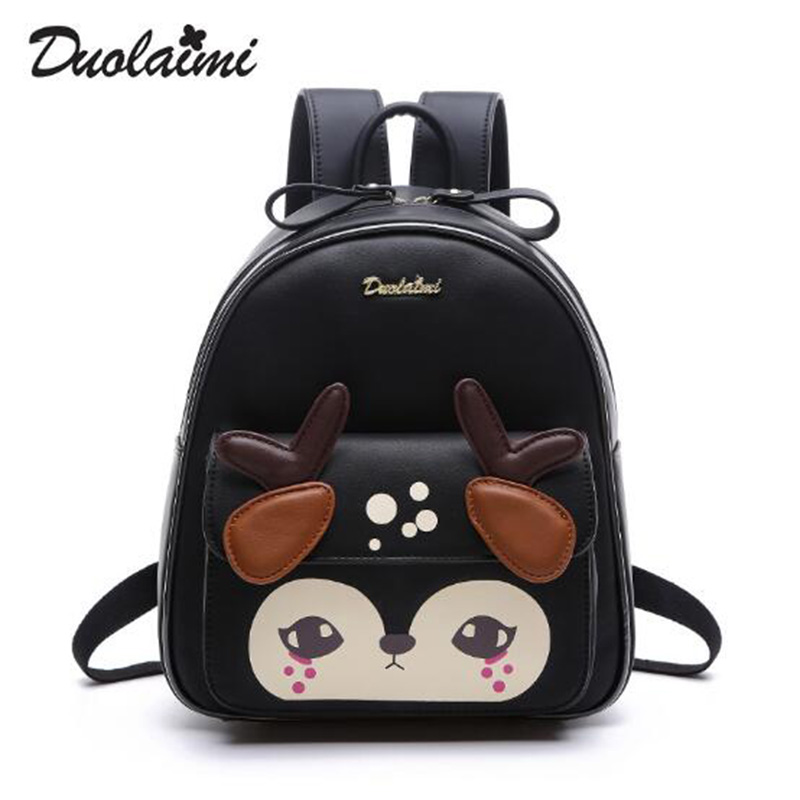 New Fashion Shoulder Bags Preppy Style School Bag Cute Girl Backpacks Fresh Deer Bags Ladies Casual Animal Prints Women Bags<br><br>Aliexpress